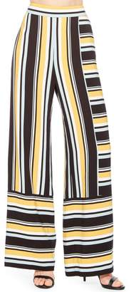 Parker Wrenn Stripe Wide Leg Pants