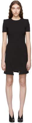 Alexander McQueen Black Step Hem Dress
