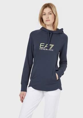 Emporio Armani Ea7 Stretch Cotton Sweatshirt With Hood