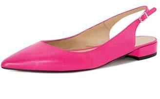 Eldof Women Low Heels Pumps | Pointed Toe Slingback Flat Pumps | 2cm Classic Elegante Court Shoes US11