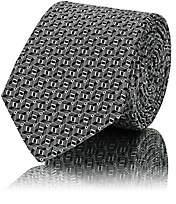 Lanvin Men's 3D Squares Silk Jacquard Necktie - Gray