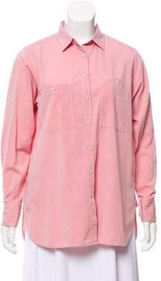 Rag & Bone Long Sleeve Button-Up Top