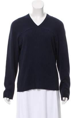 Valentino Woven V-Neck Sweater