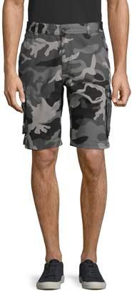 Buffalo David Bitton Camo-Print Cotton Cargo Shorts