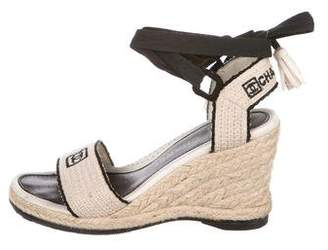 Chanel 2006 CC Espadrille Wedges