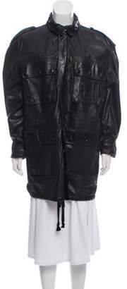 Faith Connexion Collared Leather Coat w/ Tags Black Collared Leather Coat w/ Tags