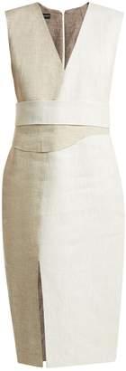 CARL KAPP Ashton V-neck linen dress