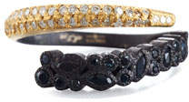 Armenta Old World Cluster Bypass Wrap Ring with Diamonds