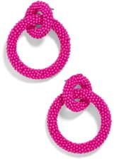 BaubleBar Emma Beaded Hoop Earrings