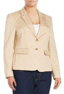 Basler Long-Sleeve Cotton-Blend Jacket