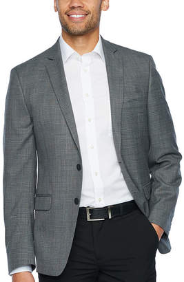 Van Heusen Gray Plaid Slim Fit Sport Coat