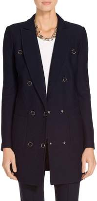 St. John Hannah Knit Narrow Double Breasted Jacket