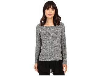 Karen Kane Lace Inset Sweater Women's Long Sleeve Pullover