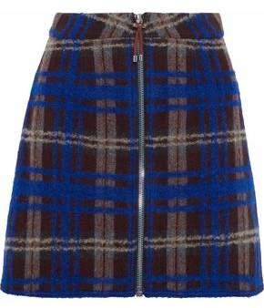Acne Studios Plaid Intarsia Wool-Blend Mini Skirt