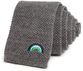 Paul Smith Rainbow Knit Skinny Tie $150 thestylecure.com