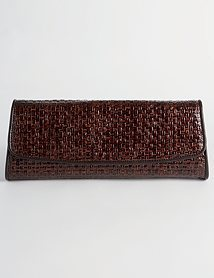 Shimmer Straw Roll Clutch
