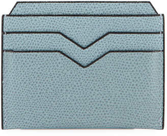Valextra Leather Card Case, Light Gray