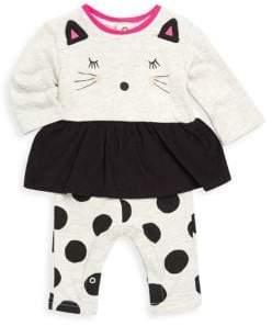 Catimini Baby Girl's Cotton Cat Romper