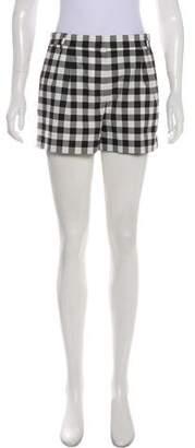 Dolce & Gabbana Gingham Mini Shorts