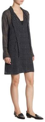 Theory Silk Scarf Dress