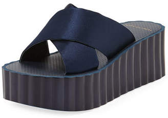 Tory Burch Scallop Wedge Platform Slide Sandal