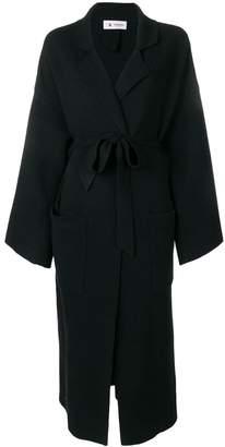 Barena belted side slit coat