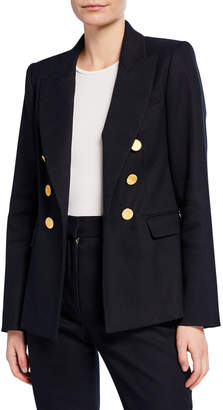 ADAM by Adam Lippes Double-Breasted Textured Blazer