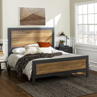 Santiago Riveted Plank Queen Size Bed by River Street Designs