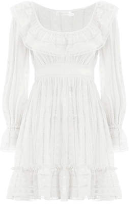 Zimmermann Melody Ladder Short Dress