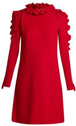 Giambattista Valli Ruffle and bow-embellished crepe mini dress