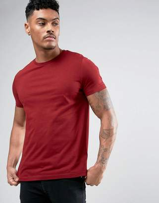 Asos Crew Neck T-Shirt In Red