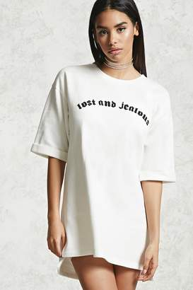 Forever 21 Lost And Jealous Longline Pullover