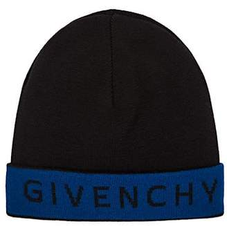 Givenchy Men's Logo Wool Beanie - Black