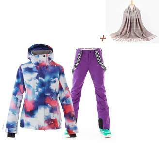 23a08c6fbb Sunflower666 2018 New Fashion Ski Windproof Waterproof Colorful Snowboard  Ski Jacket Pants Set
