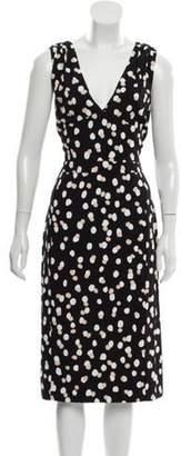 Altuzarra Printed Sleeveless Dress Black Printed Sleeveless Dress