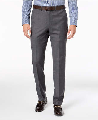 DKNY Men Slim-Fit Gray Blue Tic Suit Pants
