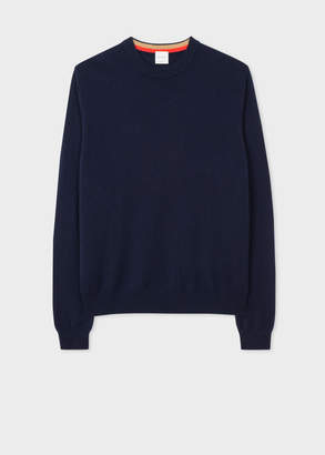 Paul Smith Men's Navy Cashmere Crew Neck Sweater