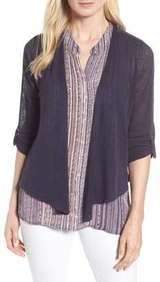 Nic+Zoe Take Comfort Four-Way Convertible Cardigan