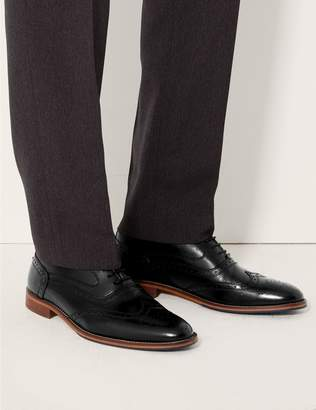 Marks and Spencer Leather Layered Sole Brogue Shoes