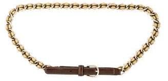 Gucci Chain-Link Web Belt Gold Chain-Link Web Belt