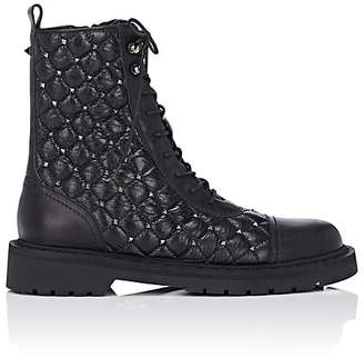 Valentino Women's Studded Leather Combat Boots