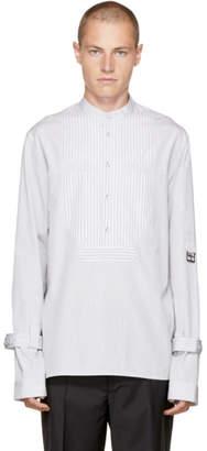 J.W.Anderson White Striped Bib Shirt