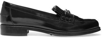 Tod's Fringed Glossed-leather Loafers - Black
