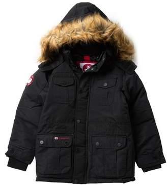 Canada Weather Gear Faux Fur Trimmed Hood Parka (Big Boys)