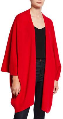 Neiman Marcus Cashmere Open-Front Kimono Cardigan