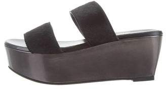 Robert Clergerie Ponyhair Platform Wedges w/ Tags