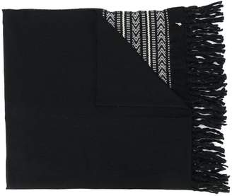 Saint Laurent Ikat knitted scarf