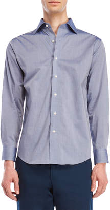 Lorenzo Uomo Chambray Trim Fit Dress Shirt