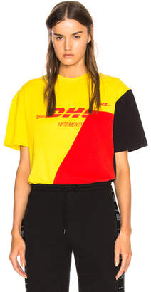 Vetements x DHL Cutup Tee