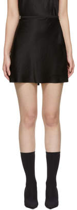 Alexander Wang Black Wash and Go Miniskirt